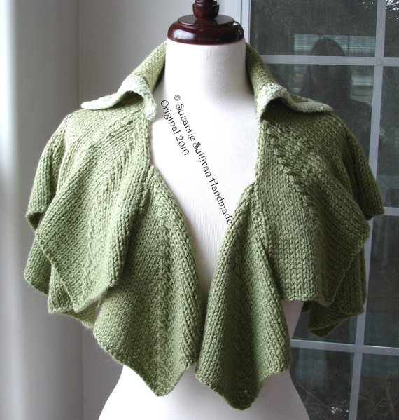 Irish Country Side Handknitted capelet