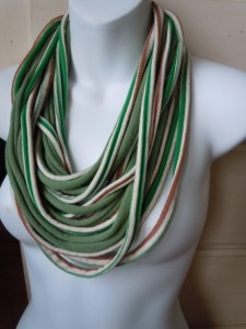 Green Foliage.....Cotton Scarf.....New Spring Fashion