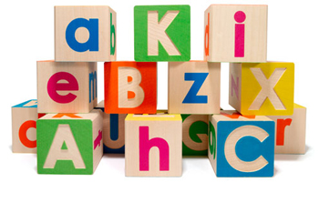 upper/lowercase simple wooden blocks from the nonchalant mom