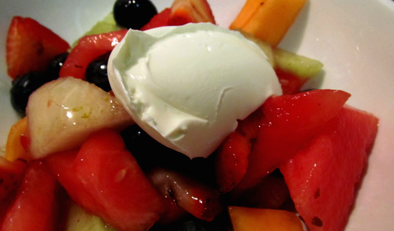 Lawry's Summer Fruit Salad with Marscapone Cheese and Ginger Lime Syrup
