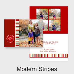 Picaboo Modern Stripes Christmas Card