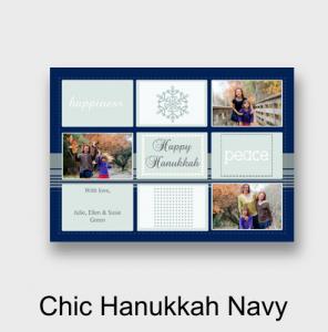 Picaboo Chic Hanukkah Navy Card
