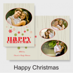 Picaboo Holiday Card Happy Christmas